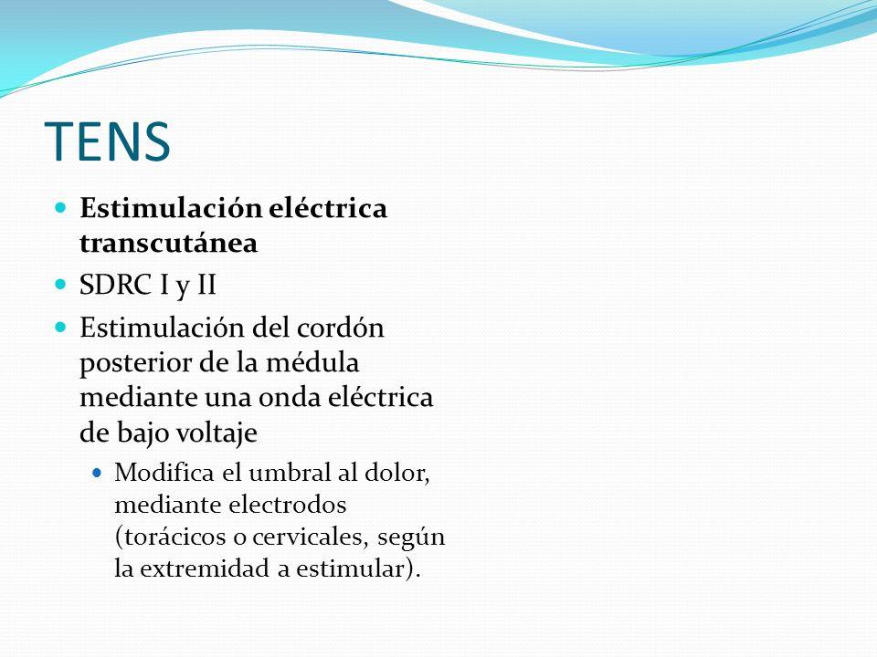 TENS Estimulación eléctrica transcutánea SDRC I y II