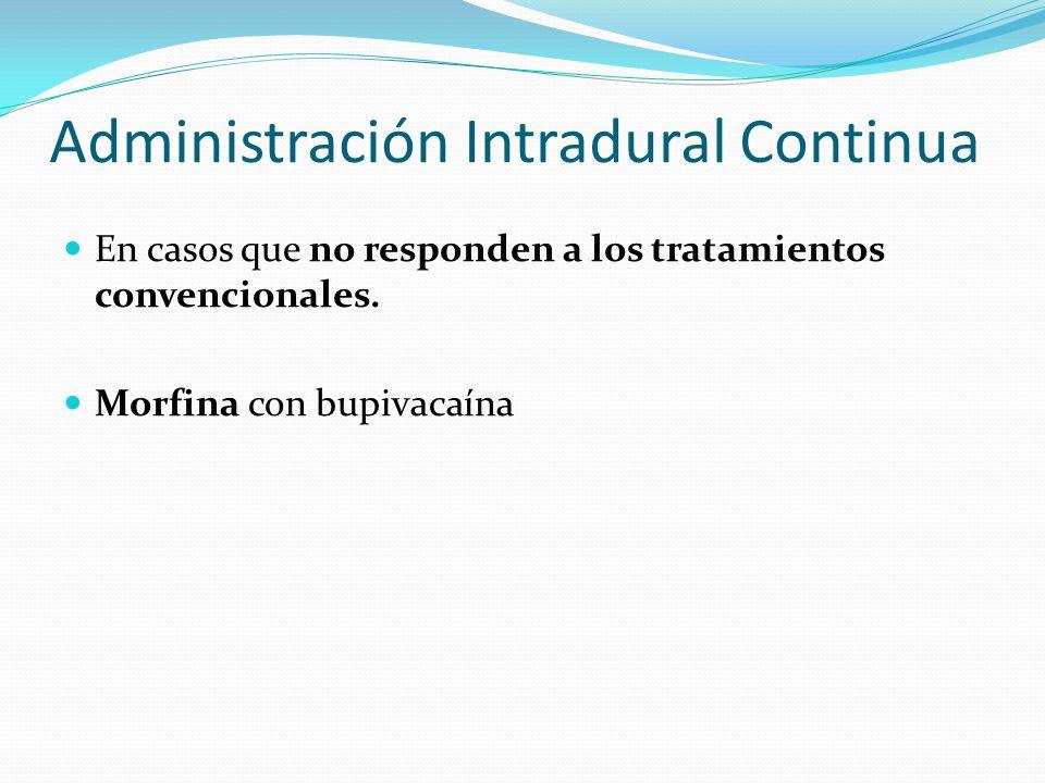 Administración Intradural Continua