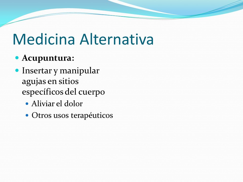 Medicina Alternativa Acupuntura: