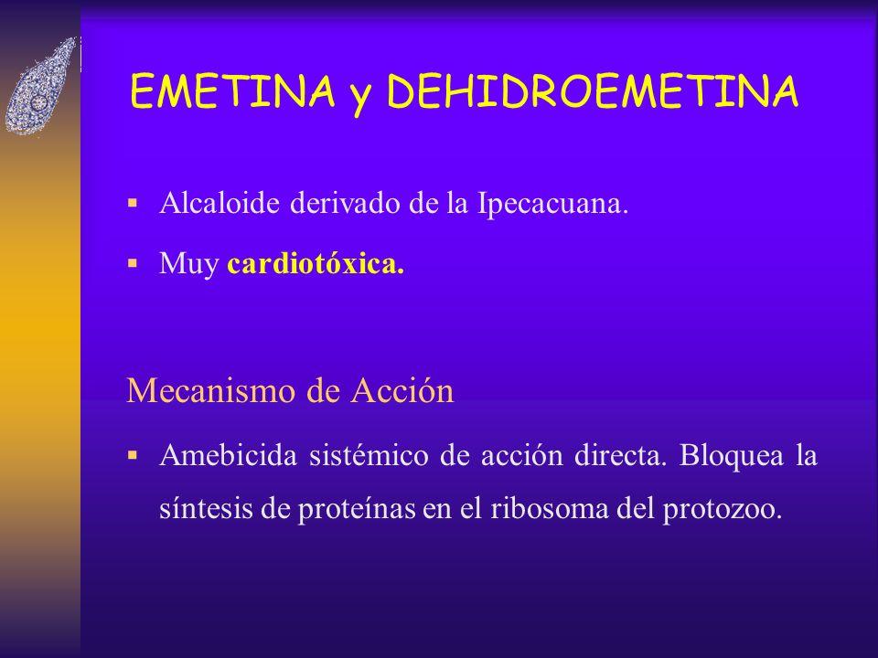EMETINA y DEHIDROEMETINA