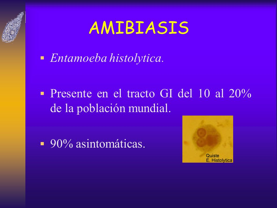 AMIBIASIS Entamoeba histolytica.