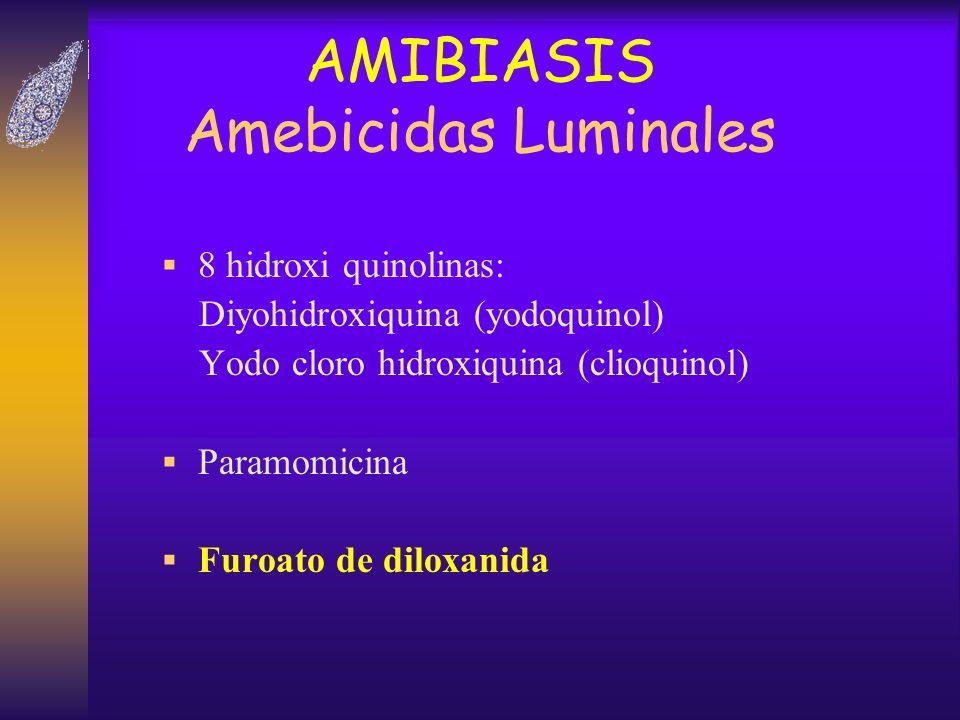 AMIBIASIS Amebicidas Luminales