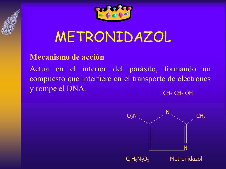 METRONIDAZOL Mecanismo de acción