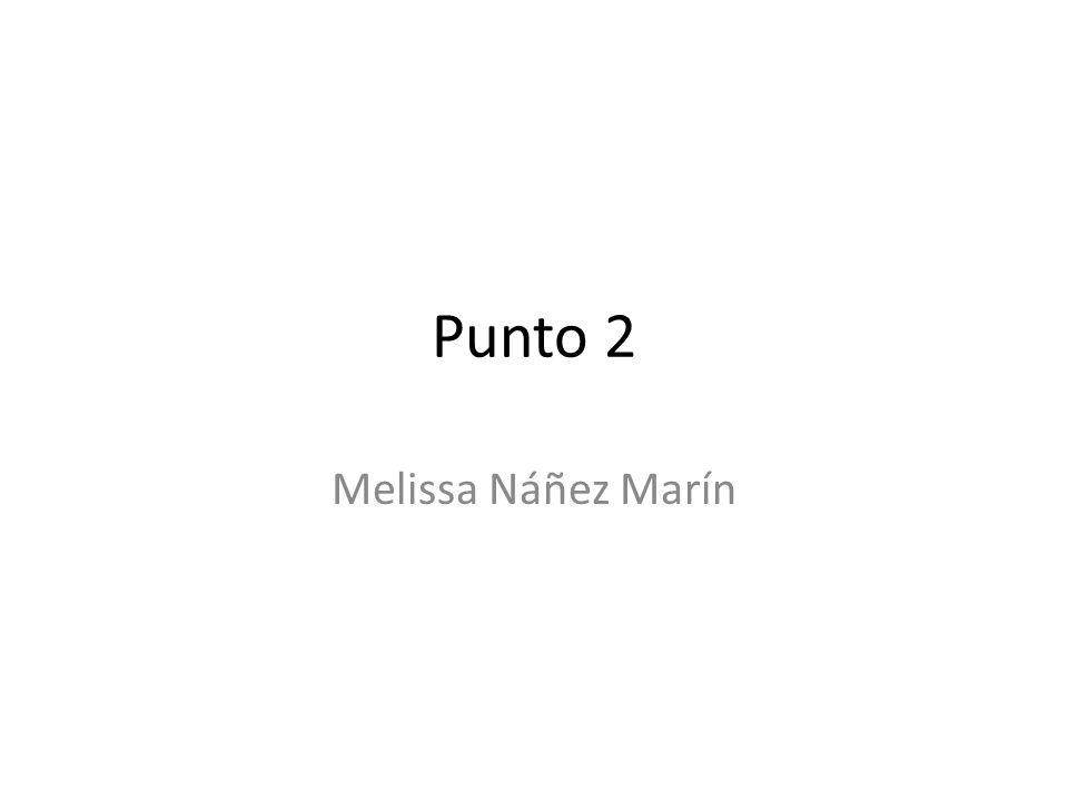 Punto 2 Melissa Náñez Marín