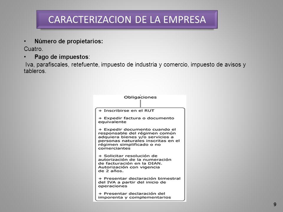 CARACTERIZACION DE LA EMPRESA