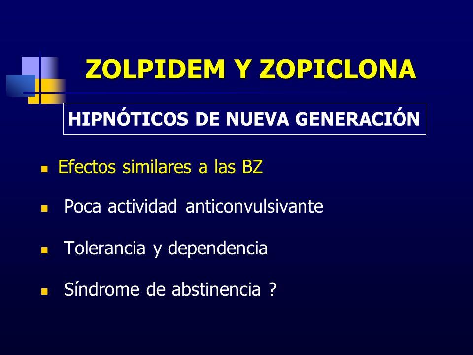 HIPNÓTICOS DE NUEVA GENERACIÓN