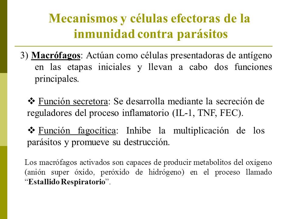 Mecanismos y células efectoras de la inmunidad contra parásitos