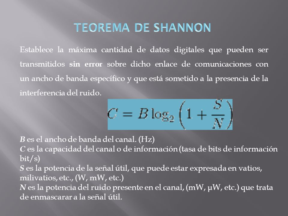 TEOREMA DE SHANNON