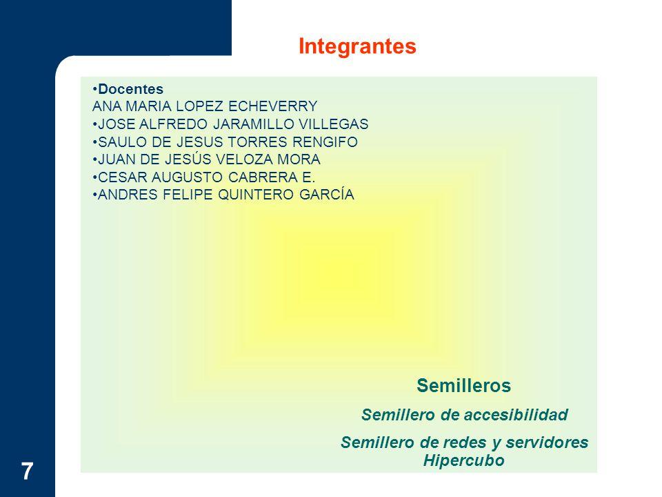 Semillero de accesibilidad Semillero de redes y servidores Hipercubo