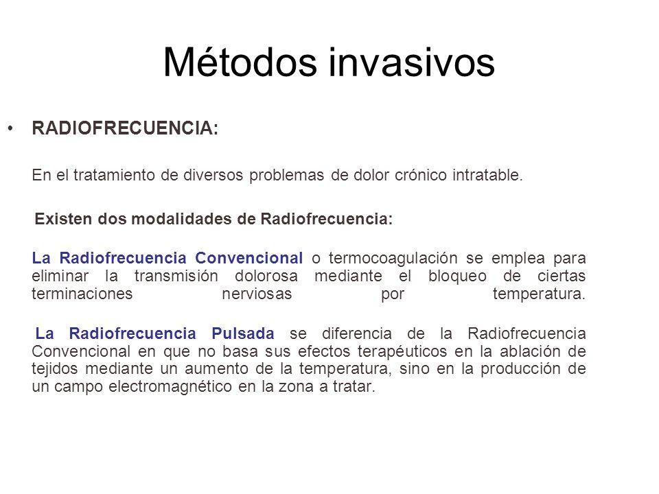 Métodos invasivos RADIOFRECUENCIA: