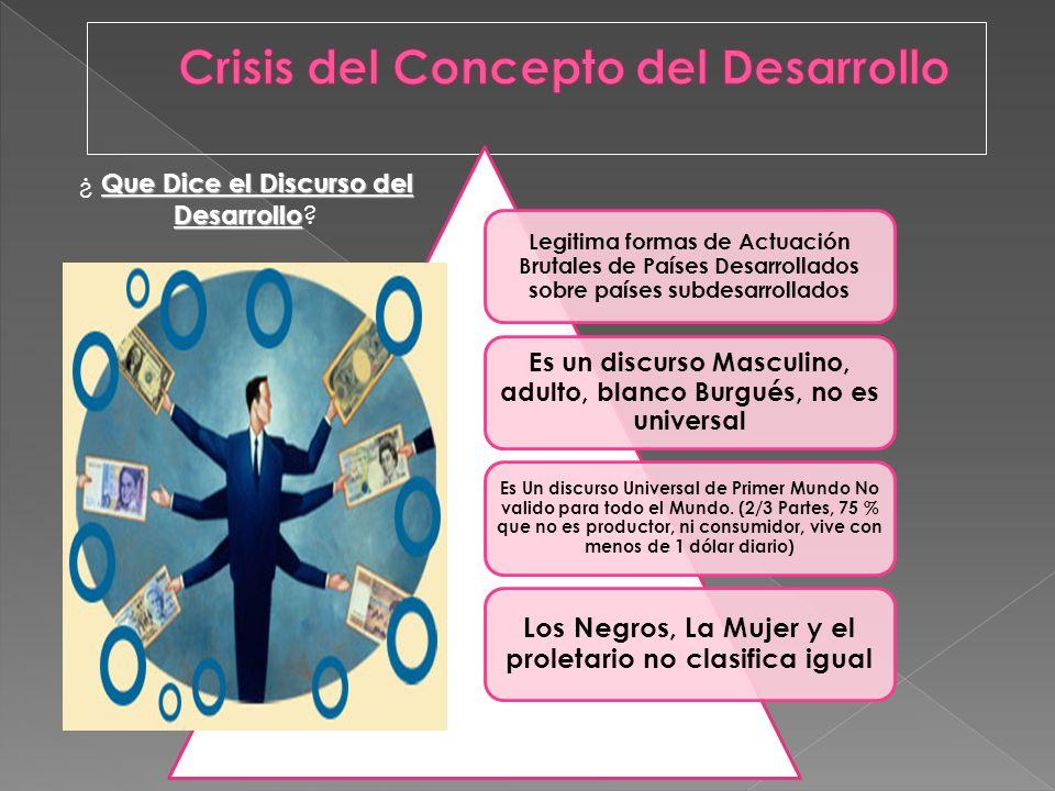 Crisis del Concepto del Desarrollo