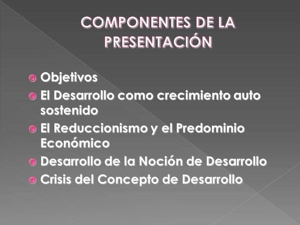 COMPONENTES DE LA PRESENTACIÓN