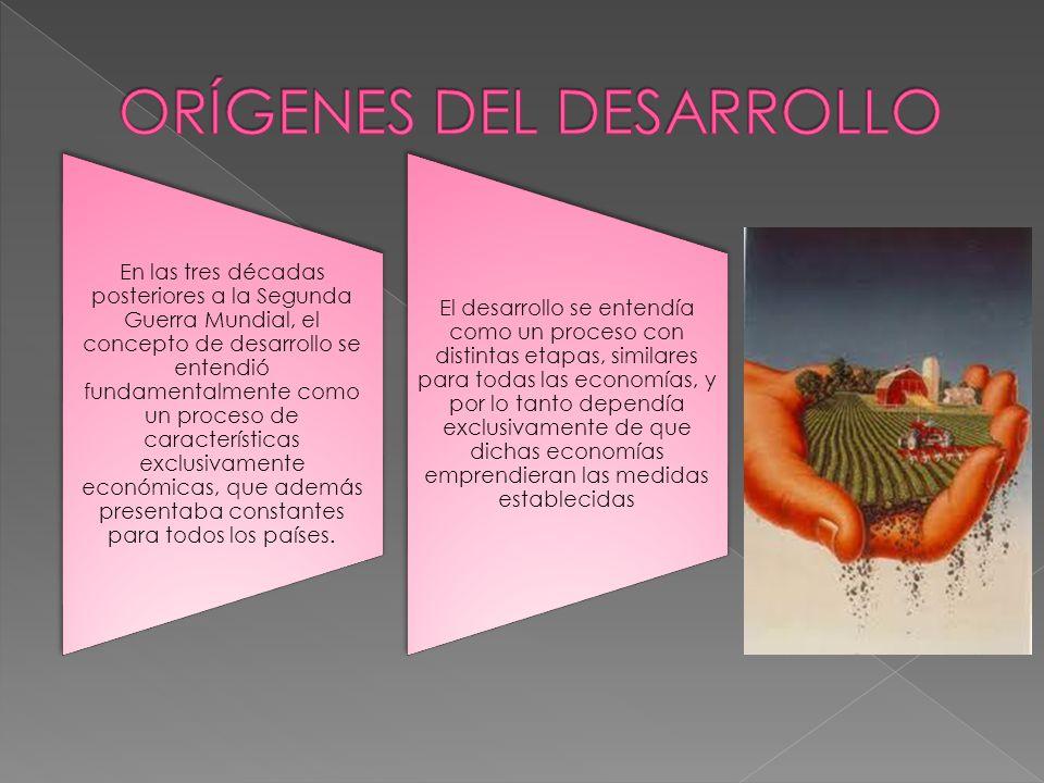 ORÍGENES DEL DESARROLLO
