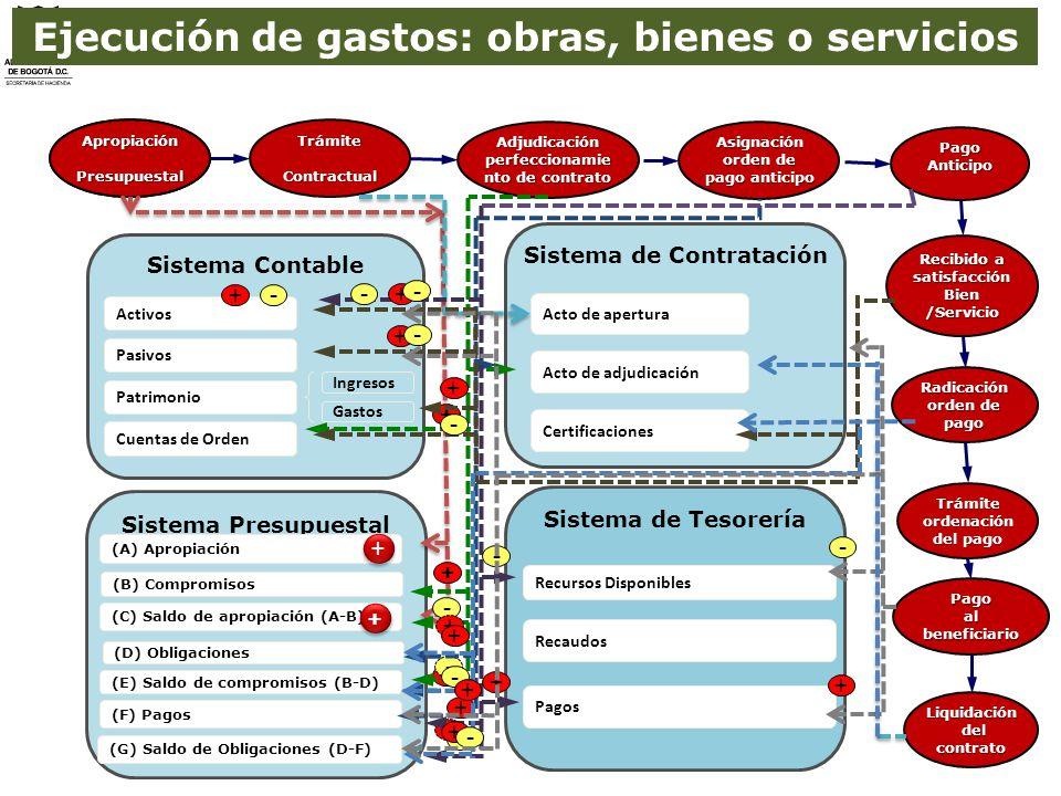 Ejecución de gastos: obras, bienes o servicios