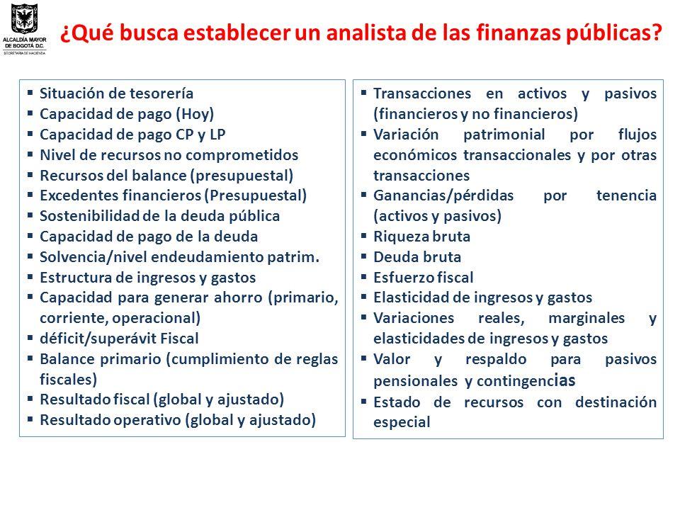 ¿Qué busca establecer un analista de las finanzas públicas