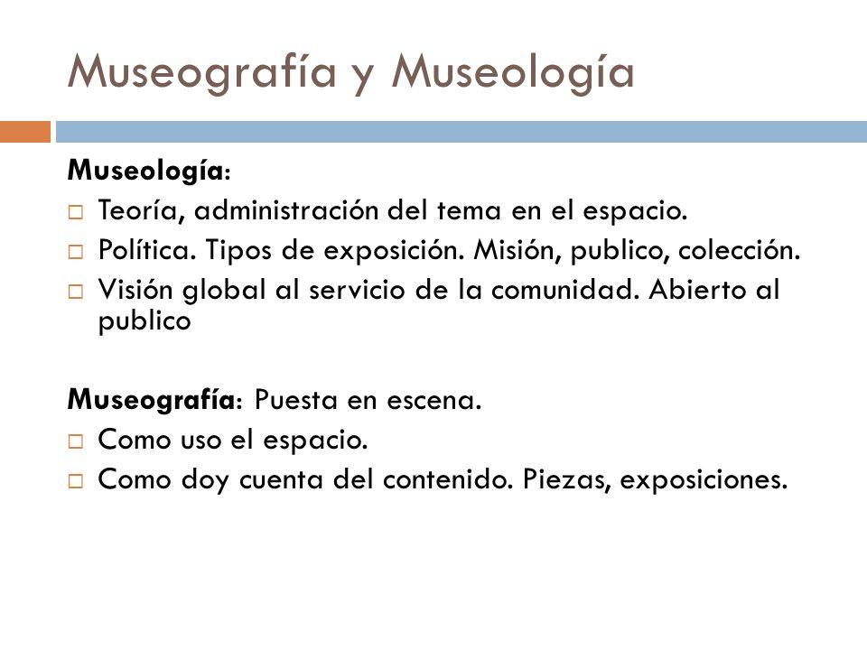 Museografía y Museología