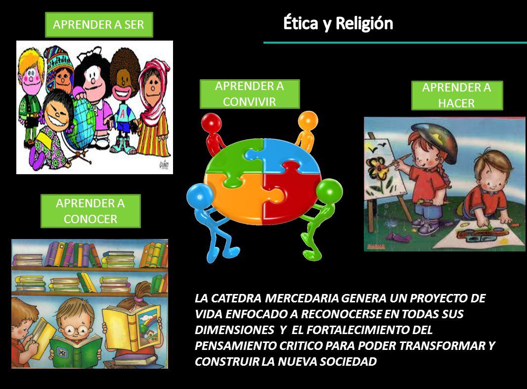 Ética y Religión APRENDER A SER APRENDER A CONVIVIR APRENDER A HACER