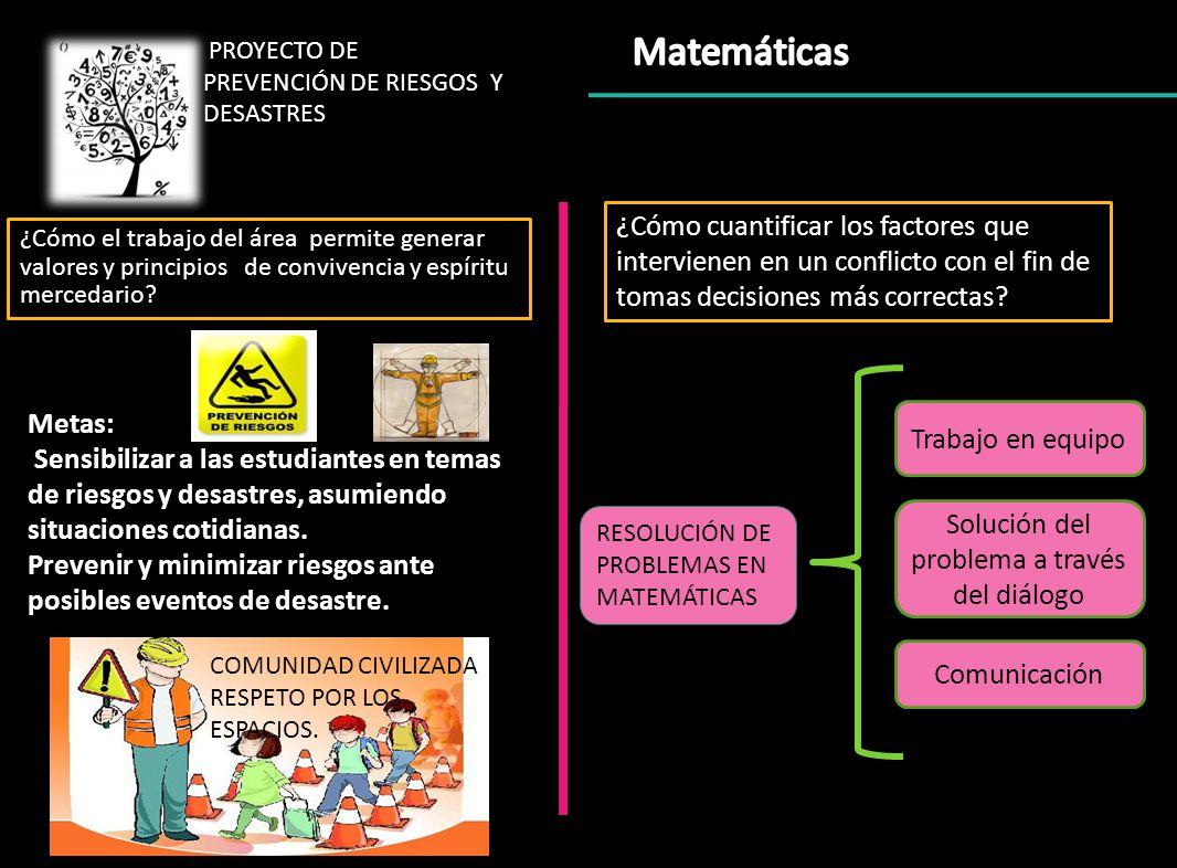 PROYECTO DE PREVENCIÓN DE RIESGOS Y DESASTRES