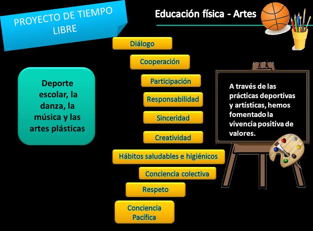 escolar, la danza, la música y las artes plásticas