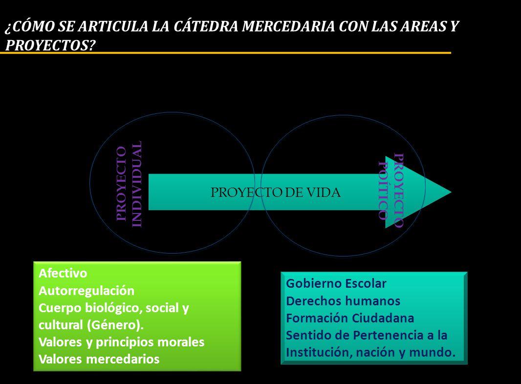 ¿CÓMO SE ARTICULA LA CÁTEDRA MERCEDARIA CON LAS AREAS Y PROYECTOS
