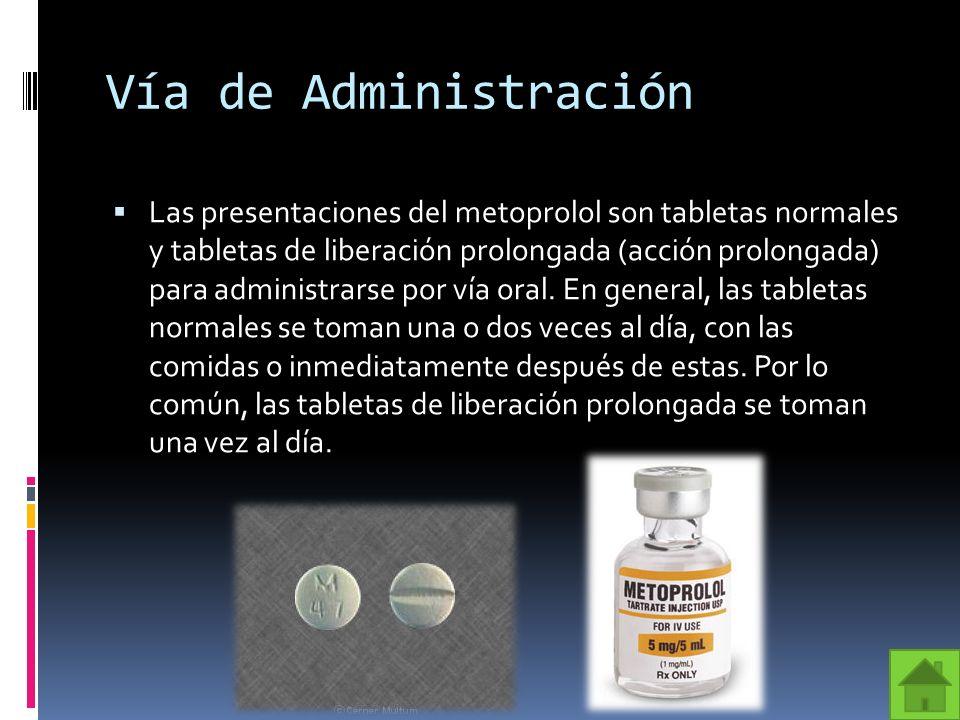 Vía de Administración