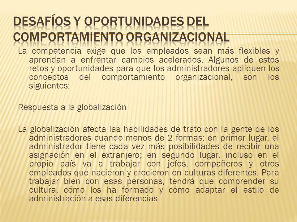 DESAFÍOS Y OPORTUNIDADES DEL COMPORTAMIENTO ORGANIZACIONAL