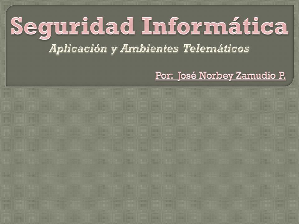 Seguridad Informática Aplicación y Ambientes Telemáticos