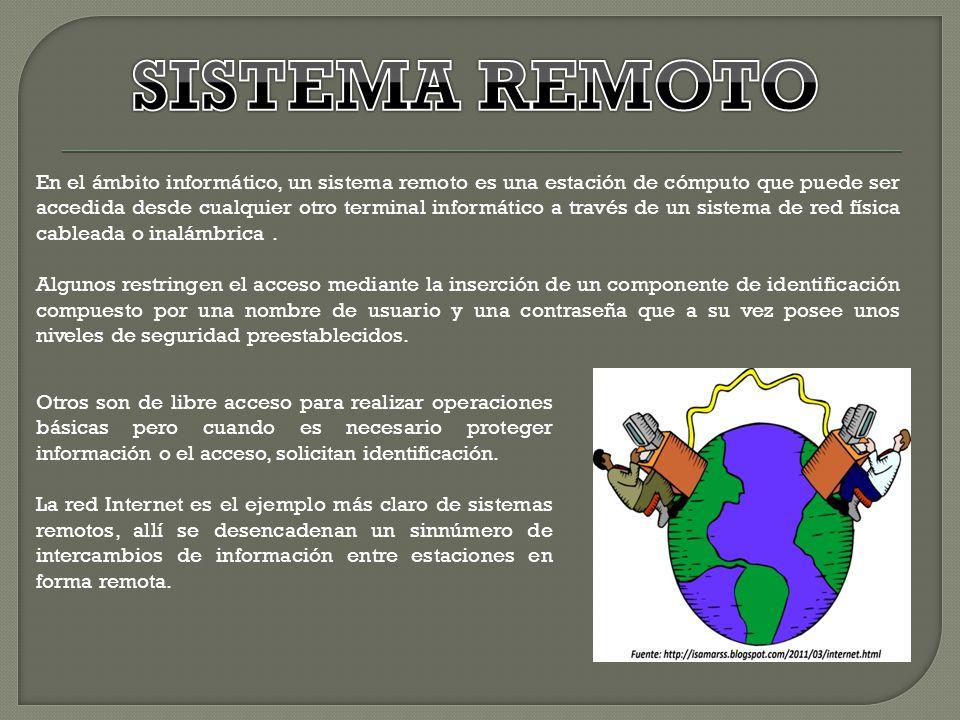 SISTEMA REMOTO