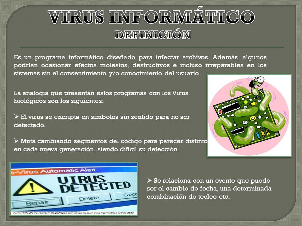 VIRUS INFORMÁTICO DEFINICIÓN