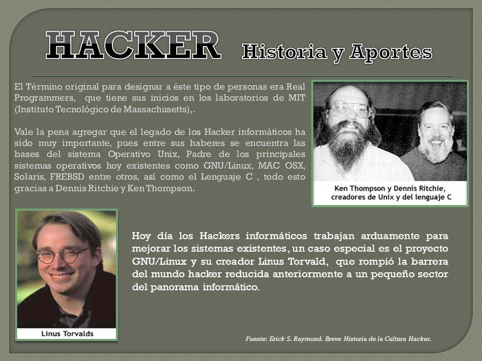 HACKER Historia y Aportes