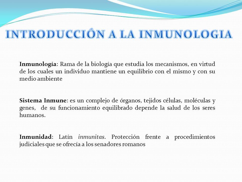INTRODUCCIÓN A LA INMUNOLOGIA