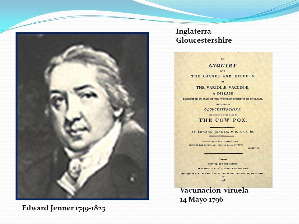 Inglaterra Gloucestershire Vacunación viruela 14 Mayo 1796 Edward Jenner 1749-1823