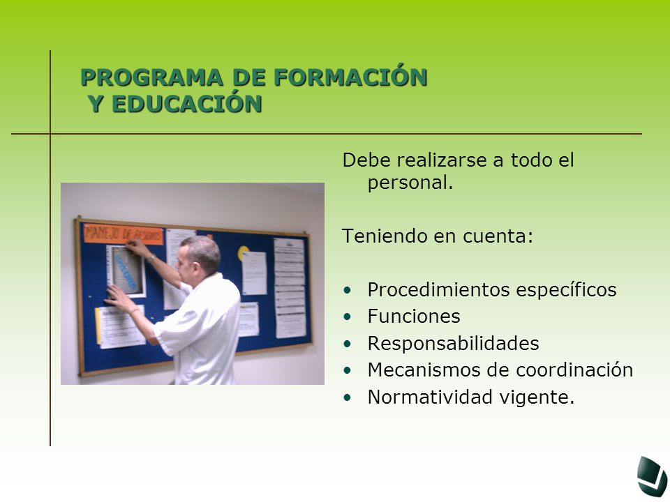 PROGRAMA DE FORMACIÓN Y EDUCACIÓN