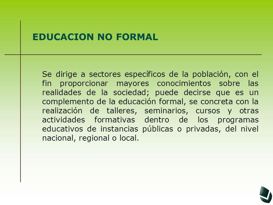 EDUCACION NO FORMAL