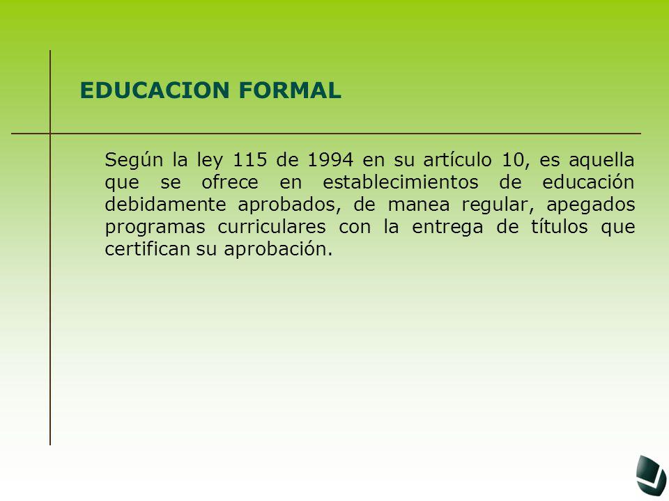 EDUCACION FORMAL
