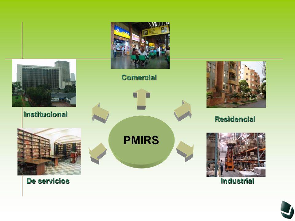Comercial Institucional Residencial PMIRS De servicios Industrial