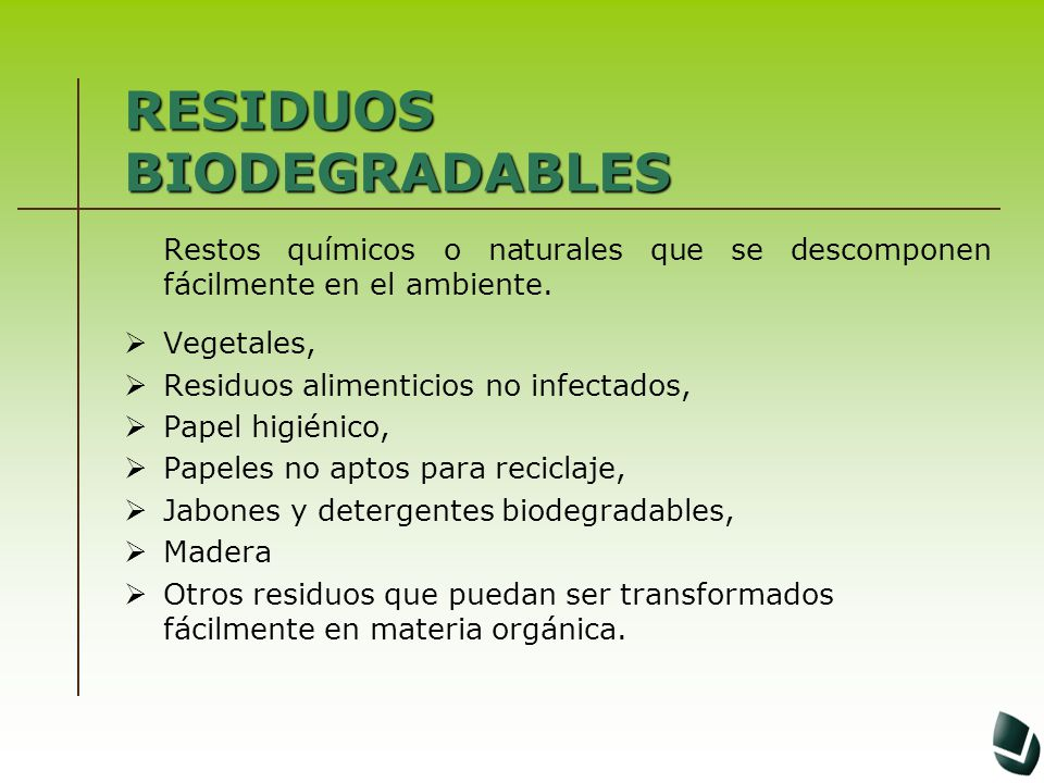 RESIDUOS BIODEGRADABLES