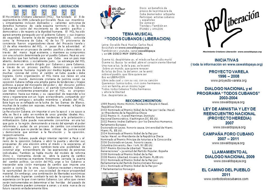 TEMA MUSICAL TODOS CUBANOS ( LIBERACION)