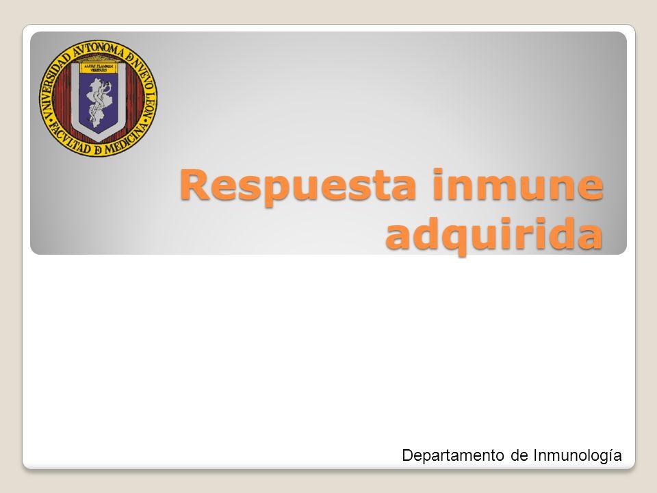 Respuesta inmune adquirida