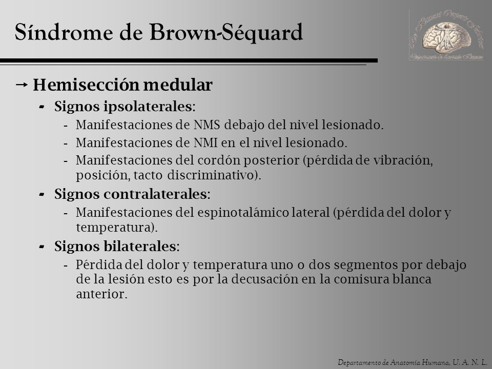 Síndrome de Brown-Séquard