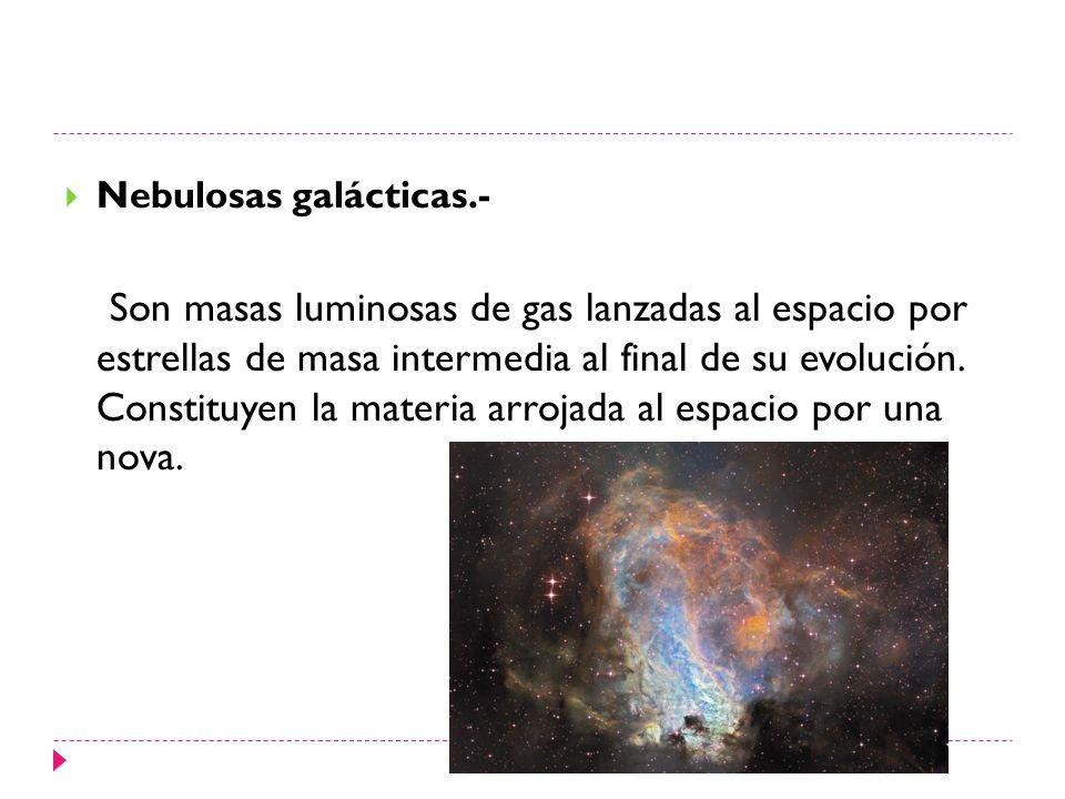 Nebulosas galácticas.-