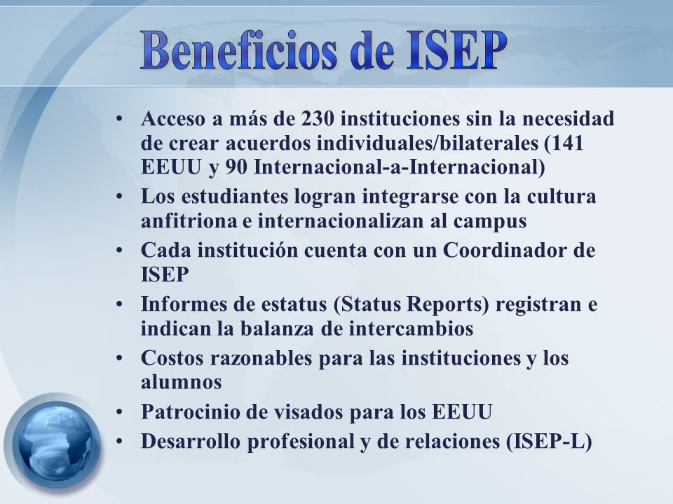 Beneficios de ISEP
