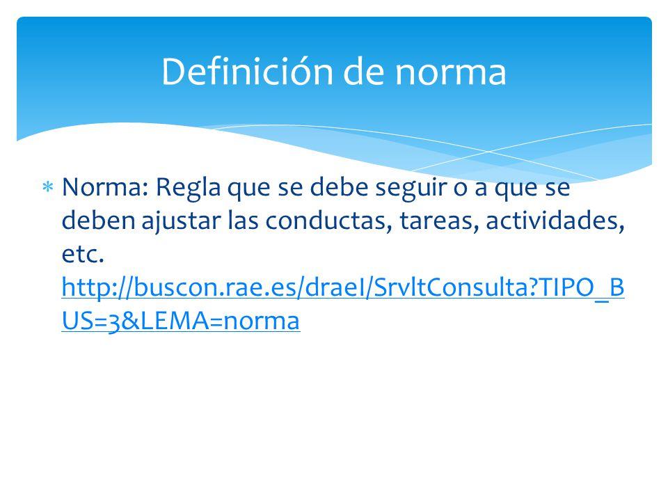 Definición de norma
