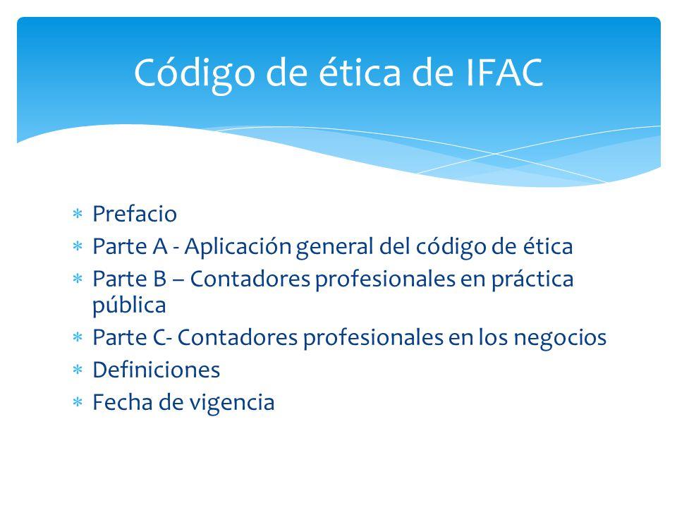 Código de ética de IFAC Prefacio