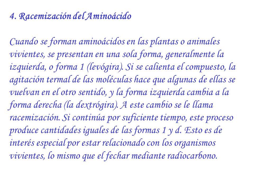 4. Racemización del Aminoácido