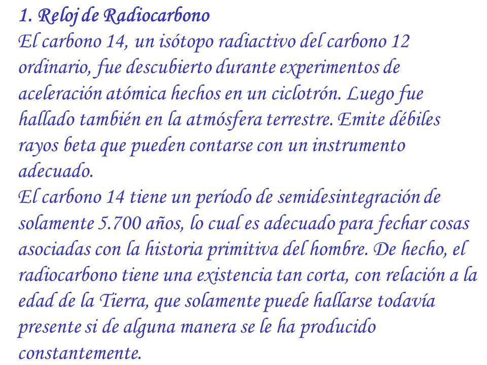 1. Reloj de Radiocarbono