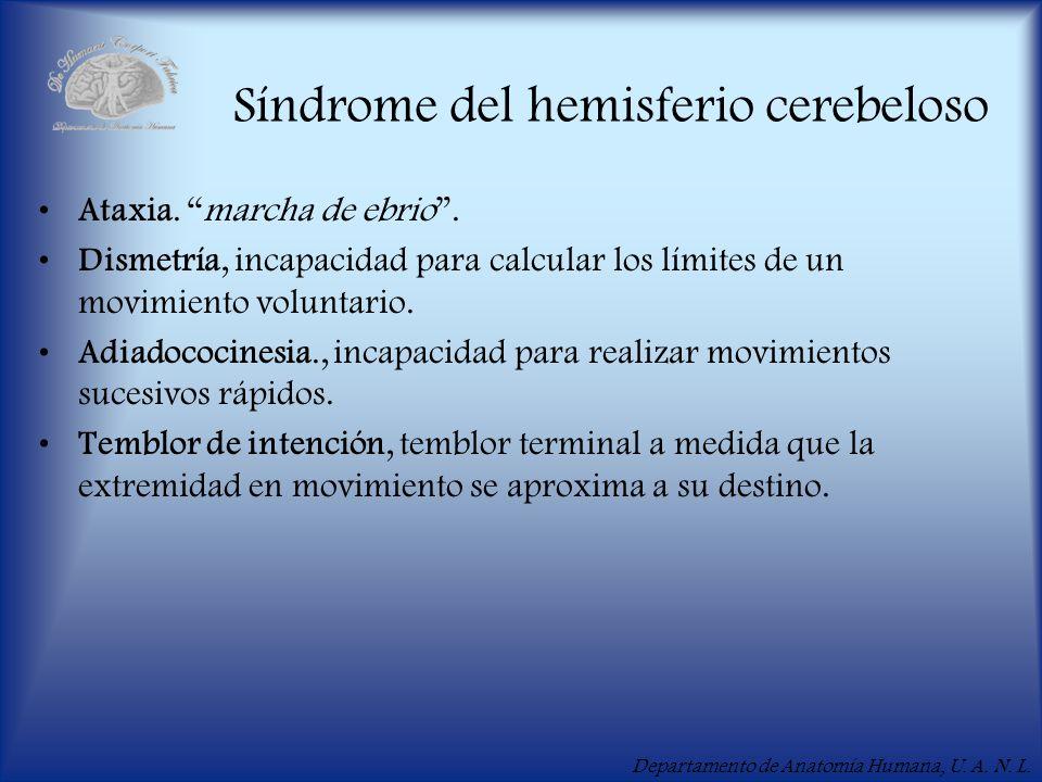 Síndrome del hemisferio cerebeloso