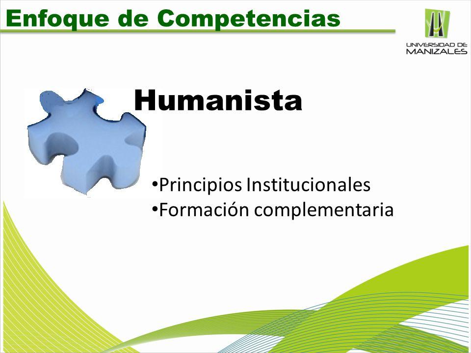 Humanista Enfoque de Competencias Principios Institucionales
