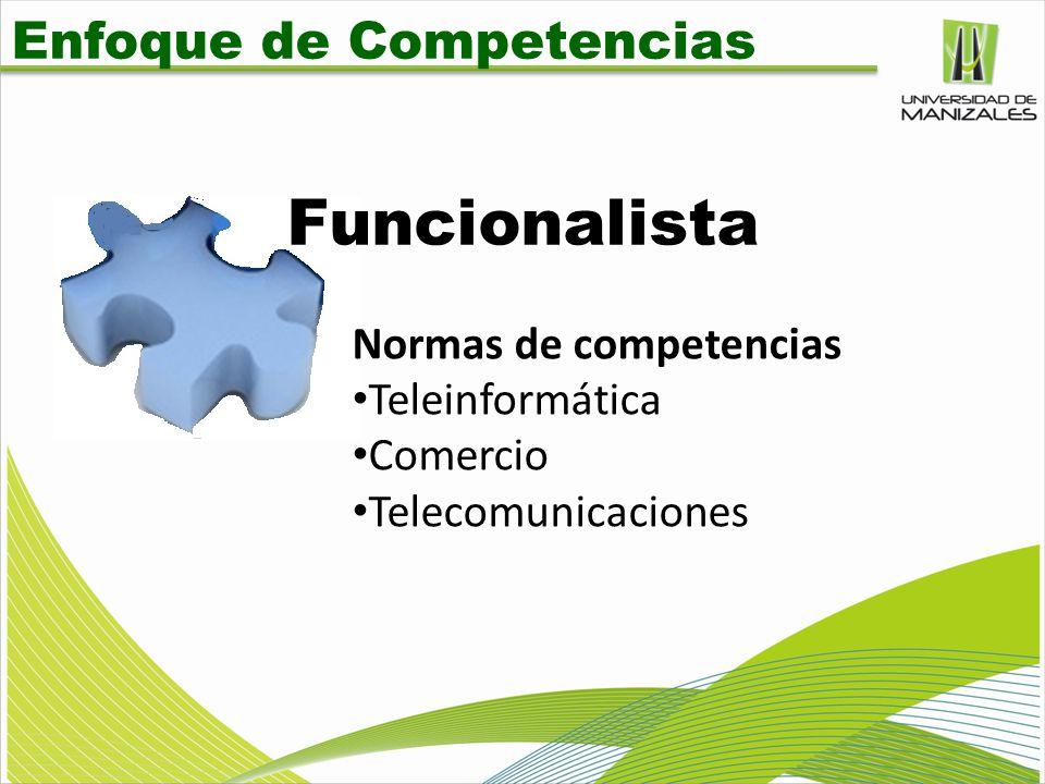 Funcionalista Enfoque de Competencias Normas de competencias
