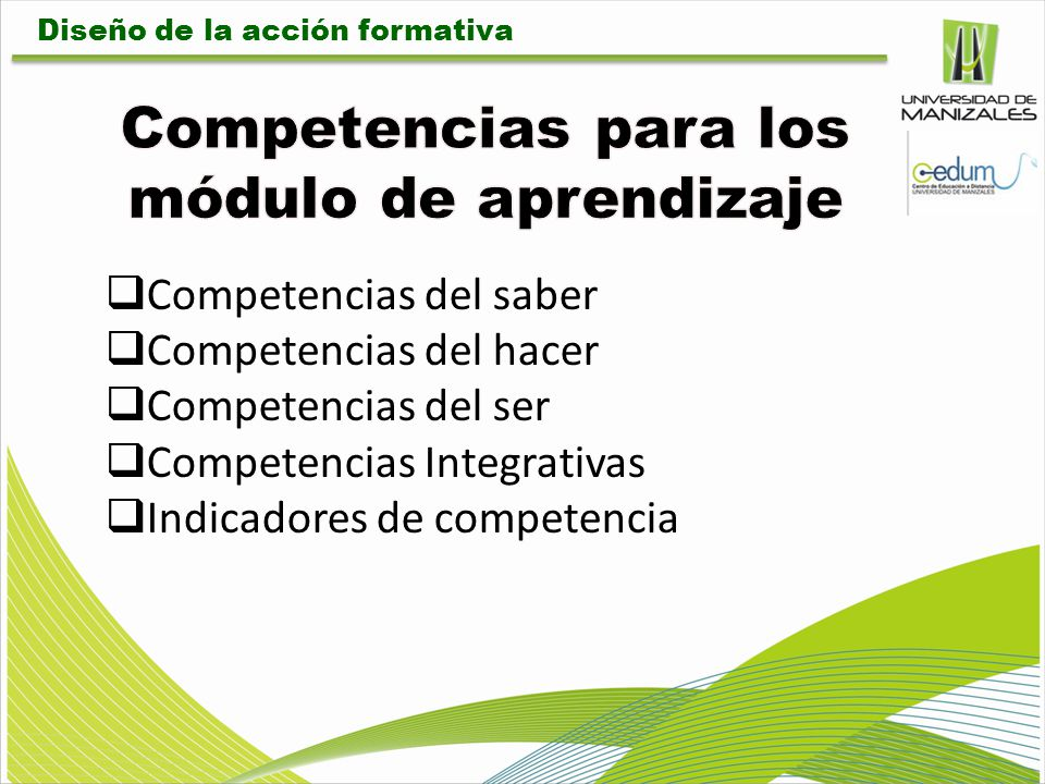 Competencias para los módulo de aprendizaje